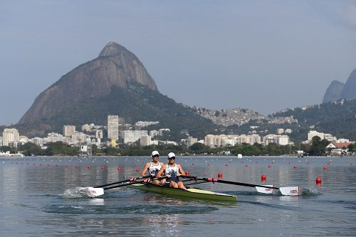 Victoria Thornley and Katherine Grainger competing at Lagoa during the Rio Games. Photo by Shaun Botterill/Getty Images