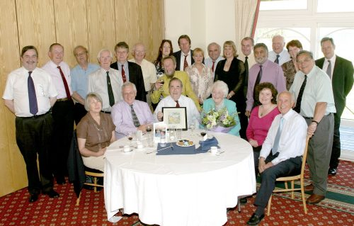 Bill Colwill retirement lunch