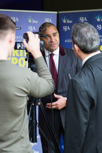 Paul Elliott, the former Celtic and Chelsea footballer, arrives for the SJA British Sports Awards