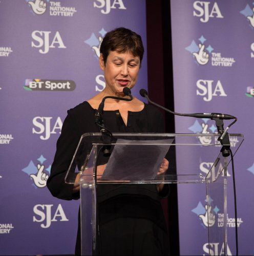 Sun sports writer Vikki Orvice can a moving speech asking for support for our nominated charity, the Royal Marsden Cancer appeal