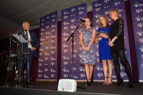 Jim Rosenthal interviews members of the SJA's Team of the Year, Olympic hockey gold medallists XXXXXXX