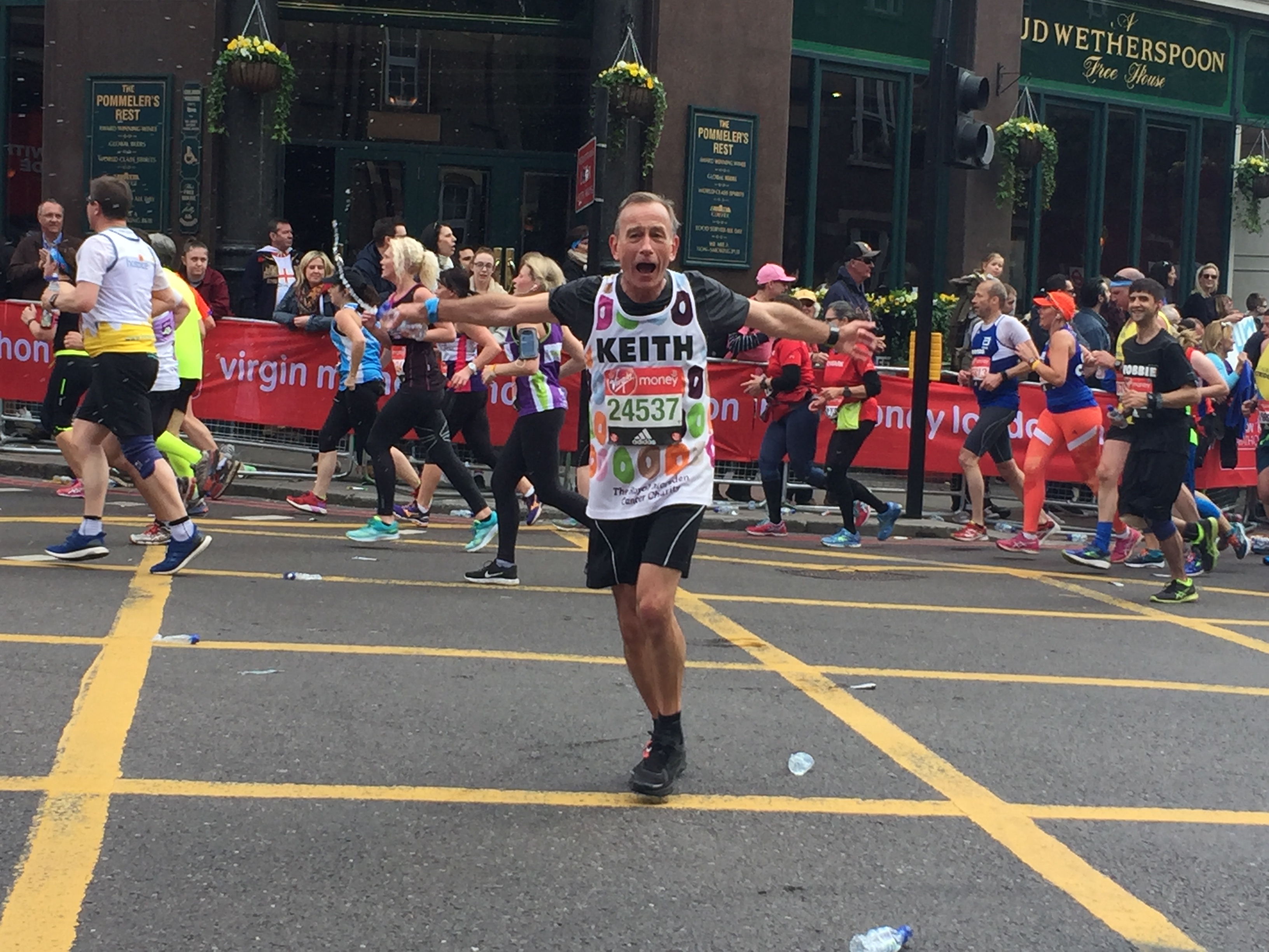 Nancarrow the marathon man for Royal Marsden