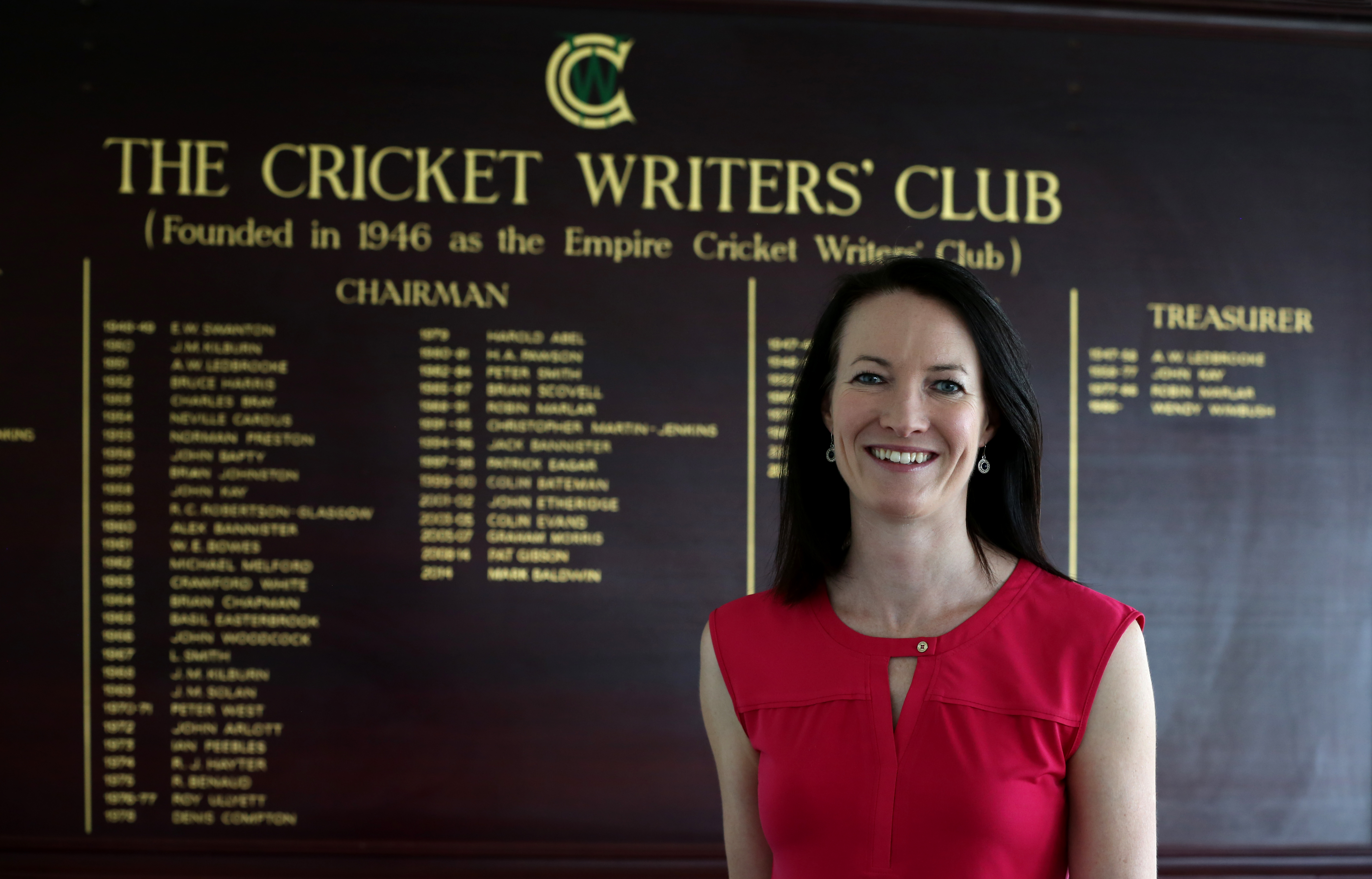 Cricket Writers' Club name Mitchell first woman chair