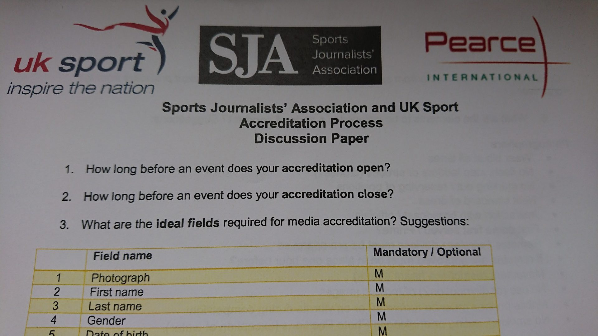 Photographers top agenda at ground-breaking SJA/UK Sport accreditation seminar
