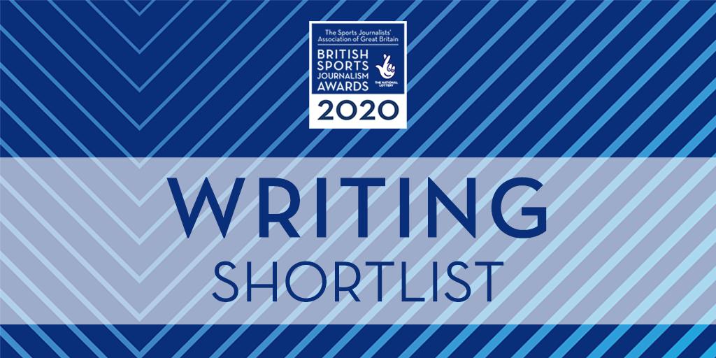 SJA British Sports Journalism Awards 2020: writing shortlist